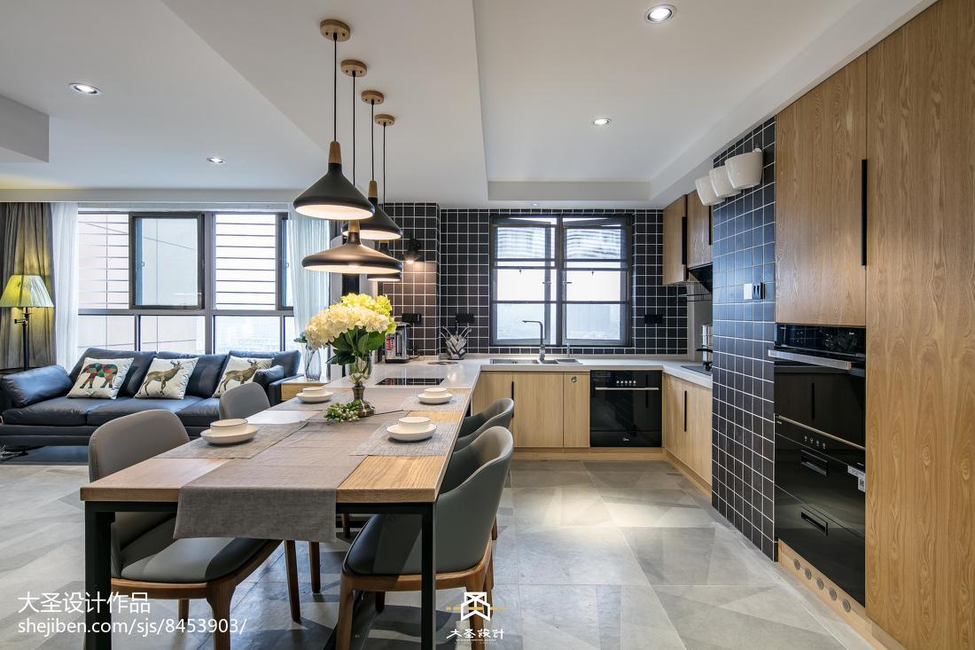 北欧家装厨房餐厅一体设计图客厅