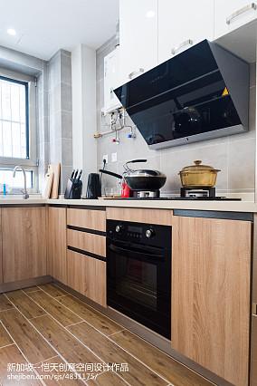 精简北欧二居厨房设计图二居北欧极简家装装修案例效果图