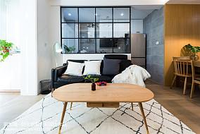 2018面积79平北欧二居客厅装修欣赏图片大全