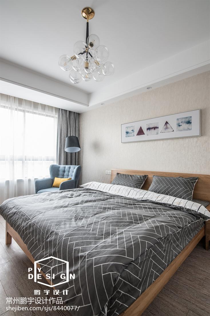 精美面积101平宜家三居卧室装修效果图片卧室现代简约卧室设计图片赏析