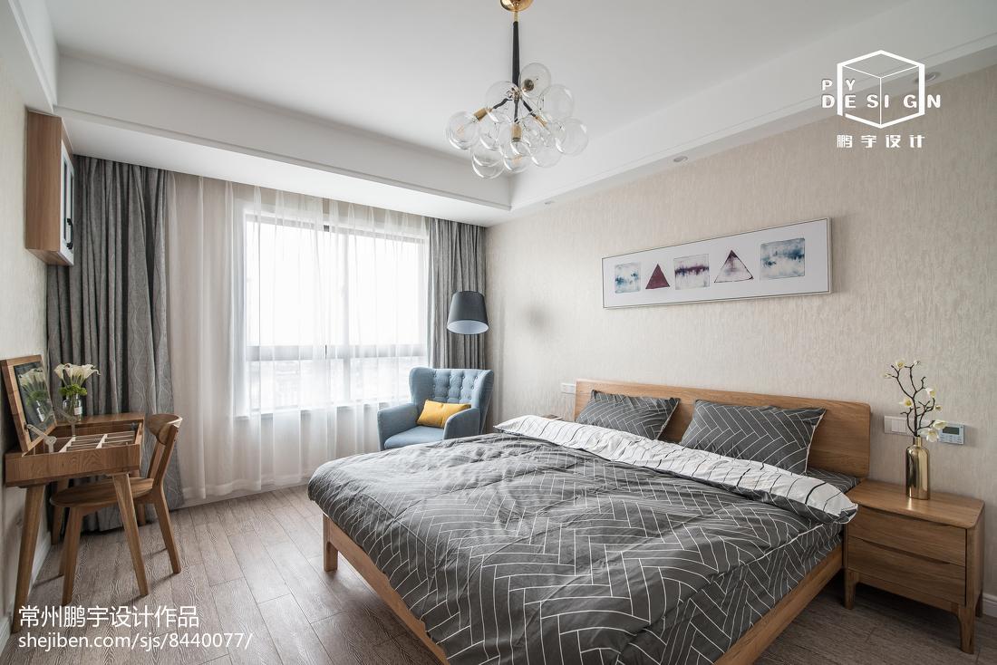 精美面积104平宜家三居卧室装饰图片卧室现代简约卧室设计图片赏析