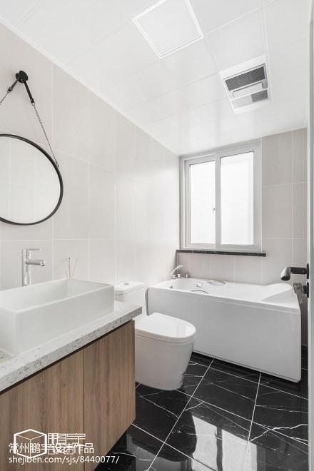 精美92平米三居卫生间北欧装修效果图片大全卫生间