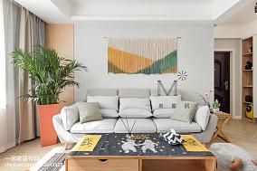 面积85平北欧二居客厅装修设计效果图片欣赏二居北欧极简家装装修案例效果图