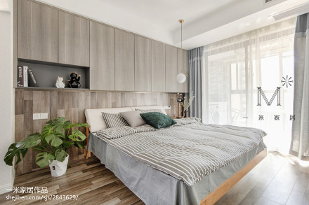 2018精选88平米二居卧室北欧装修欣赏图
