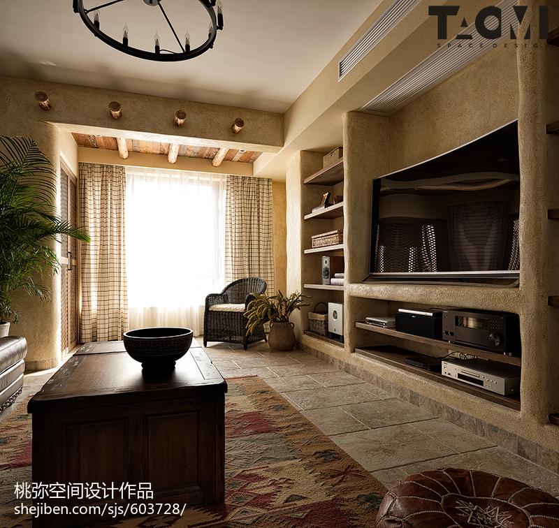 2018大小124平混搭四居客厅装修实景图片客厅