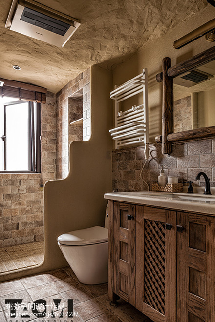 质朴104平混搭四居卫生间设计美图卫生间