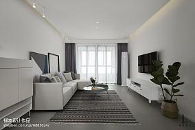 精美面积96平北欧三居客厅欣赏图