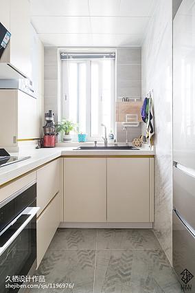 2018精选82平米简约小户型厨房装修实景图