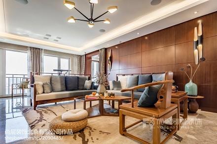 优美350平中式别墅装修效果图别墅豪宅中式现代家装装修案例效果图