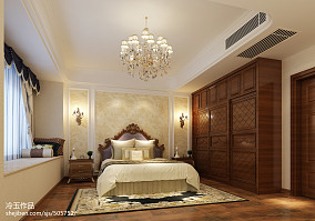 四居室倾情打造美式风格卧室装修效果图大全2014图片
