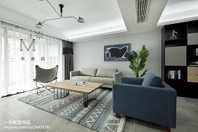 平米二居客厅北欧装饰图片二居北欧极简家装装修案例效果图
