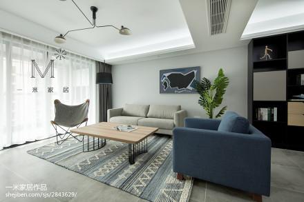 201886平米二居客厅北欧装饰图片