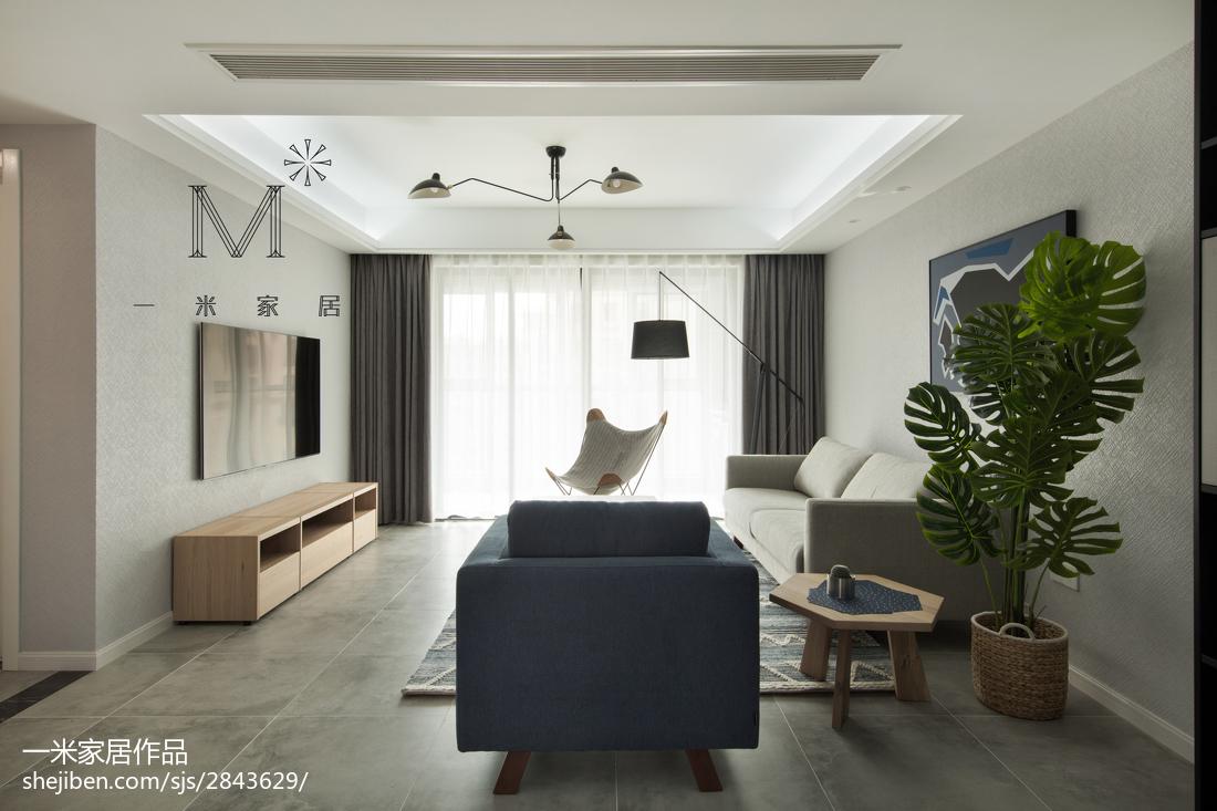 典雅118平北欧二居设计图客厅北欧极简客厅设计图片赏析