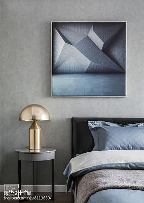 热门90平米三居卧室现代效果图片大全