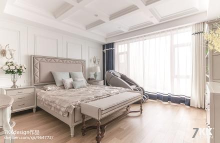 大气92平美式三居卧室图片欣赏卧室