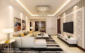 东南亚装修设计客厅窗帘效果图