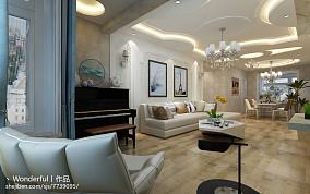 豪华混搭风格客厅效果图欣赏