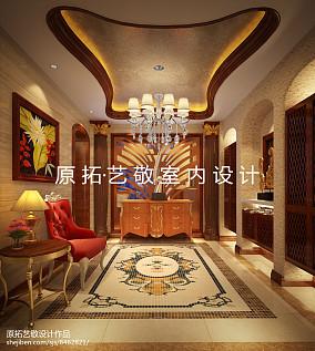 热门面积119平别墅玄关东南亚效果图片