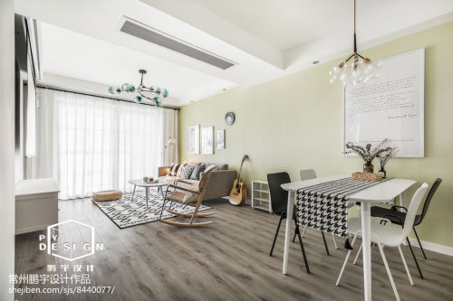 北欧风90㎡客厅餐厅设计图客厅木地板