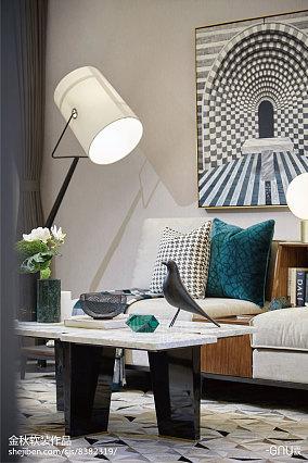 质朴278平北欧样板间客厅设计案例样板间北欧极简家装装修案例效果图