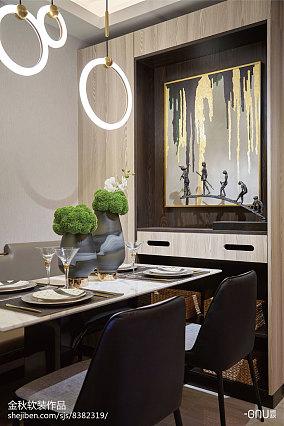 精选北欧餐厅装修设计效果图片欣赏样板间北欧极简家装装修案例效果图