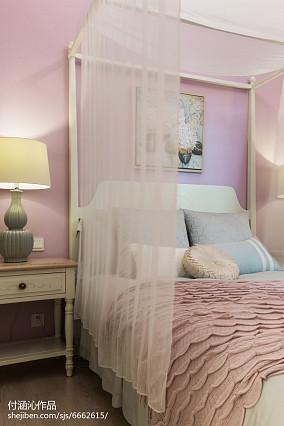 明亮60平简欧二居卧室实景图片81-100m²二居欧式豪华家装装修案例效果图