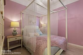 优雅72平简欧二居卧室装饰图81-100m²二居欧式豪华家装装修案例效果图