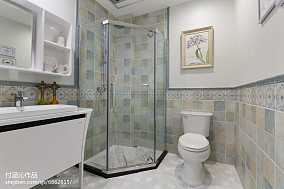 精选73平米二居卫生间简欧装饰图片大全81-100m²二居家装装修案例效果图