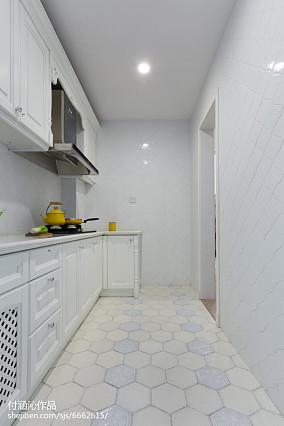 优美78平简欧二居厨房装修美图81-100m²二居欧式豪华家装装修案例效果图