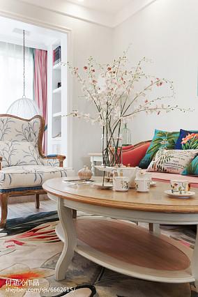 热门面积89平简欧二居客厅装修设计效果图