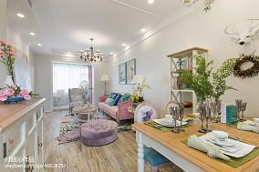 大气65平简欧二居客厅设计效果图81-100m²二居欧式豪华家装装修案例效果图