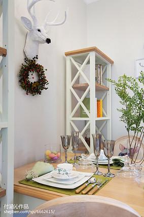 华丽55平简欧二居餐厅实拍图81-100m²二居欧式豪华家装装修案例效果图