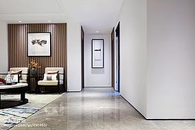 新中式别墅过道设计实景图别墅豪宅中式现代家装装修案例效果图
