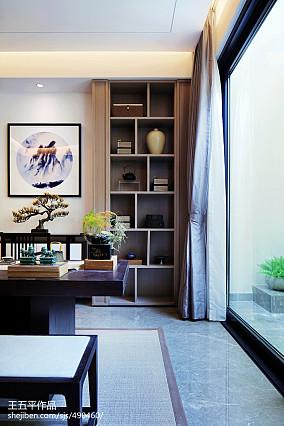 125平米中式别墅书房实景图片欣赏别墅豪宅中式现代家装装修案例效果图