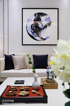 精选118平方中式别墅客厅效果图别墅豪宅中式现代家装装修案例效果图
