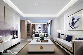 新中式别墅客厅设计实景图别墅豪宅中式现代家装装修案例效果图