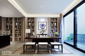 新中式别墅书房设计实景图别墅豪宅中式现代家装装修案例效果图