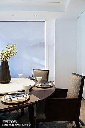 118平米中式别墅餐厅效果图片大全别墅豪宅中式现代家装装修案例效果图