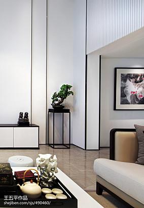 平米中式别墅客厅欣赏图别墅豪宅中式现代家装装修案例效果图