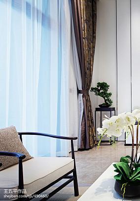 精美143平米中式别墅客厅实景图片欣赏别墅豪宅中式现代家装装修案例效果图