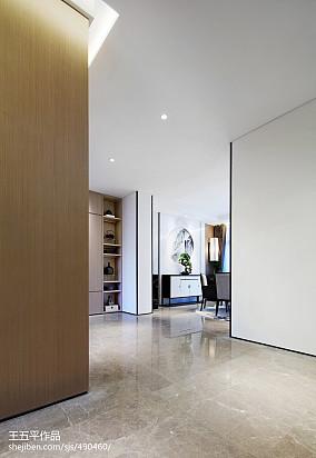 热门面积131平别墅过道中式效果图片欣赏别墅豪宅中式现代家装装修案例效果图