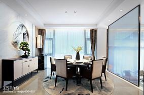 面积113平别墅餐厅中式装修效果图别墅豪宅中式现代家装装修案例效果图