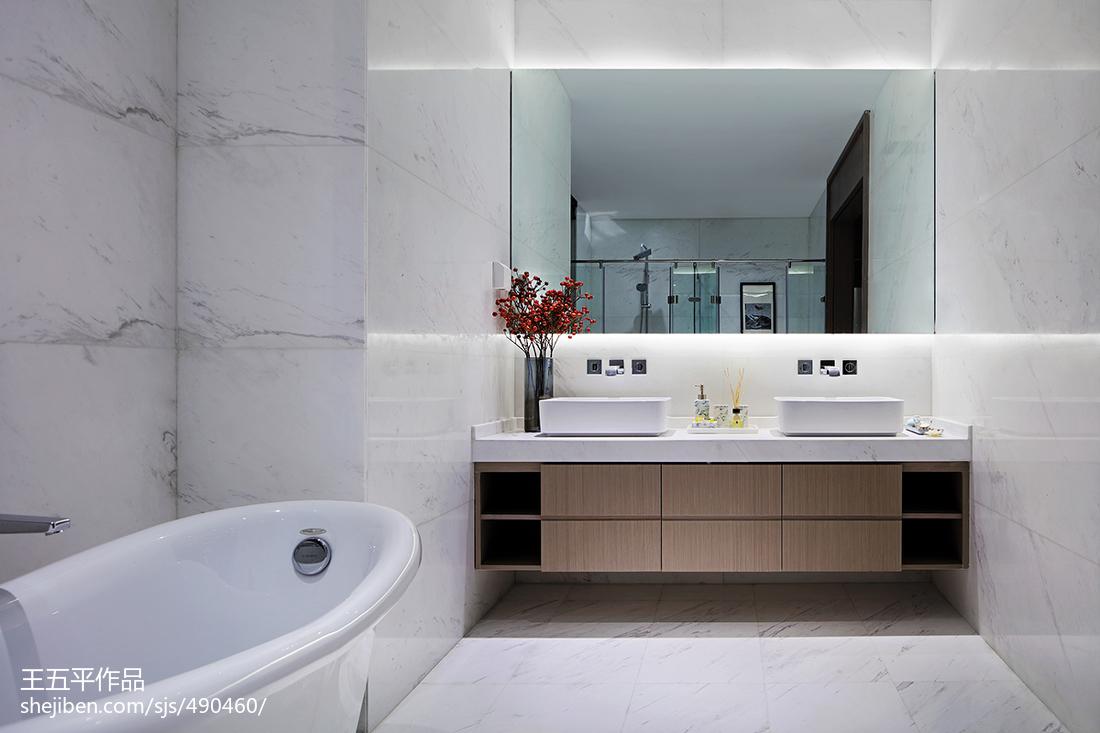 新中式别墅卫浴设计图卫生间中式现代卫生间设计图片赏析