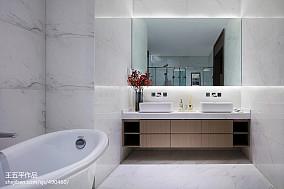 新中式别墅卫浴设计图卫生间中式现代设计图片赏析