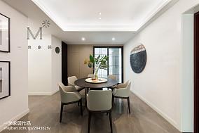 2018大小95平现代三居餐厅装修图片大全