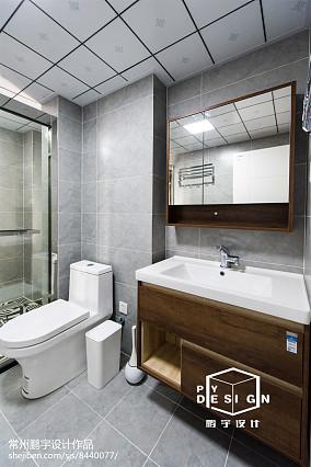 面积105平北欧三居卫生间装修实景图片大全