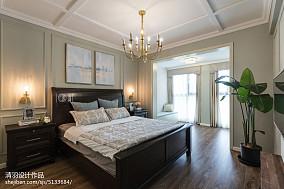 典雅139平美式四居卧室装修图四居及以上美式经典家装装修案例效果图