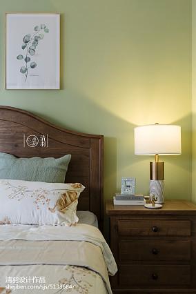 优美128平美式四居卧室布置图四居及以上美式经典家装装修案例效果图
