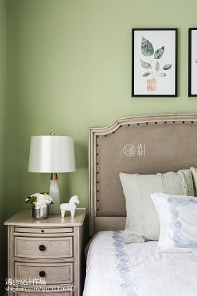 华丽102平美式四居卧室实景图四居及以上美式经典家装装修案例效果图