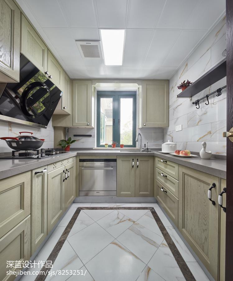热门85平米二居厨房中式装修欣赏图片大全餐厅中式现代厨房设计图片赏析